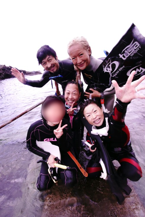 花子さんとフリーダイビング体験会bokashihitori-min